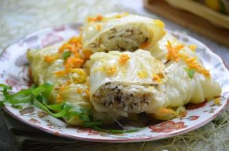 Рецепт дня: постные голубцы с грибами и морковью фото