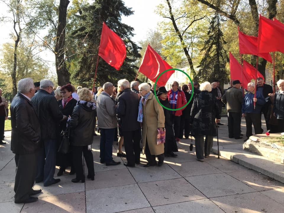 Ректор запорожского ВУЗа посетил митинг по случаю столетия комсомола