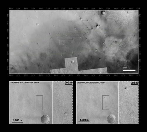 ЕКА опубликовало фото сместа крушения «Скиапарелли» наМарсе